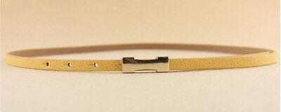 Ladies Slim Fashion Waist Belt Dress Access Thin Skinny PU Leather Belt Women 3