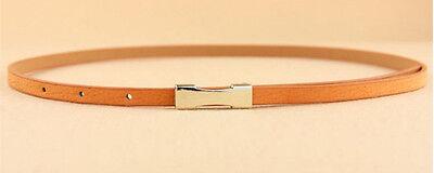 Ladies Slim Fashion Waist Belt Dress Access Thin Skinny PU Leather Belt Women 5
