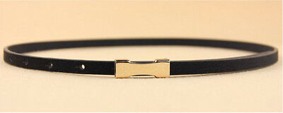 Ladies Slim Fashion Waist Belt Dress Access Thin Skinny PU Leather Belt Women 11