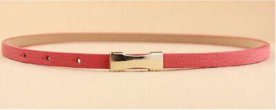 Ladies Slim Fashion Waist Belt Dress Access Thin Skinny PU Leather Belt Women 2