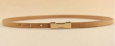 Ladies Slim Fashion Waist Belt Dress Access Thin Skinny PU Leather Belt Women 9