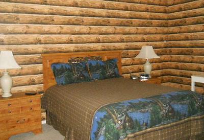 York Log Wallpaper Rustic Mountain Lodge Cabin 3d