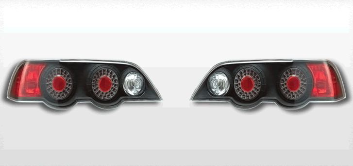 FOR 2002-2004 ACURA RSX L.E.D LOOK BLACK TAIL LIGHTS