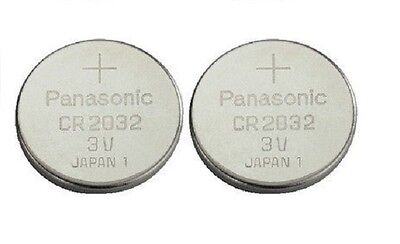 Pack Of 2 Panasonic CR2032 Lithium Coin Cell 3V Battery Car Key Fobs Toys Remote 2