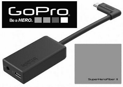 Original GoPro HERO 7 6 5 BLACK PRO 3.5mm MIC ADAPTER + EXTRA BATTERY + CHARGER 2