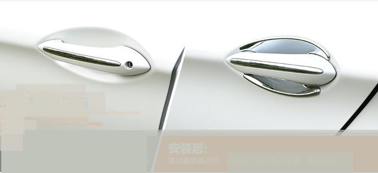 Steel Side Door Handle Cover Trim 4pcs For BMW 7 Series F01 F02 2010-2015