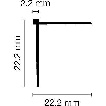 Tapeten-Eckleiste Kantenschutz-Winkel-Profil (Außenwinkel) weiß, Länge: 260cm