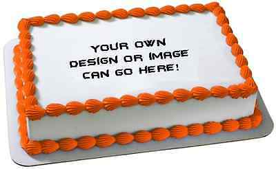 Your Own Custom Design Personalised Premium A4 ICING Cake Topper 2