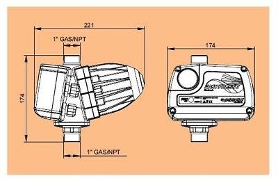 Presscontrol EASY PRESS II Pedrollo Regolatore pressione elettronico pompa 2 hp 2