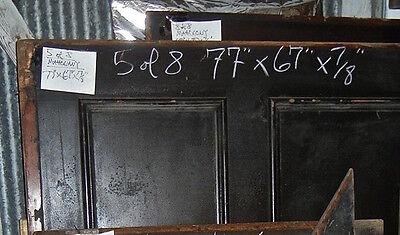 "Tiger Oak wood  Wainscot  Architectural  Antique raised  panel 77 "" X  67"" 4"