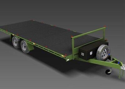 Trailer Plans - 6m FLAT TOP TRAILER PLANS - PLANS ON CD-ROM -Flatbed,Car Trailer 2