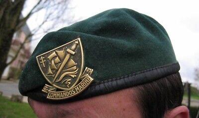 BÉRET de COMMANDOS MARINE avec insigne et flot Spécial Commando -Taille L /TT 57 2
