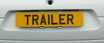 Showroom Show Display Number Plate Holders Clip On Spring Loaded Trailer Bracket 6