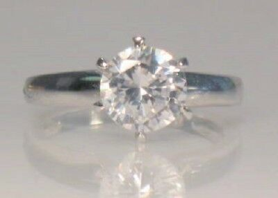 2 Ct Round Diamond Solitaire Engagement Ring White Gold Platinum Finish 4