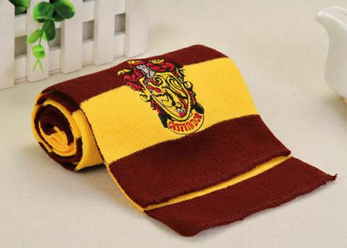 Xmas Harry Potter Scarf Glove Set Gryffindor Slytherin Hufflepuff Ravenclaw Gift 9