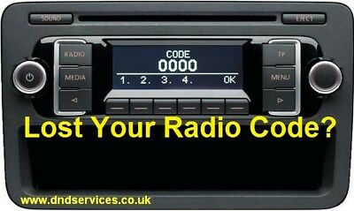 VW Radio Code Decode Unlock Codelocked RCD200 RCD 200