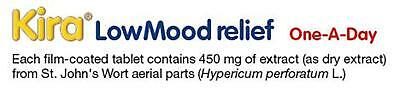 60 Kira Low Mood Relief St John's Extract 450mg Tablets (2 x 30) Exp 10/2020 8