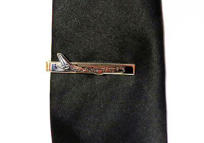 Tiebar BOEING 787 GOLD AIRPLANE Pilots Crew Maintenance metal tie clip clasp