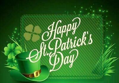 ST PATRICKS DAY HANGING DECORATIONS Irish Party Shamrock Foil Ceiling Decor UK 4