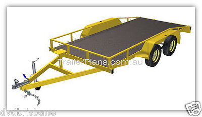 Trailer Plans - 2500kg FLATBED, BOX & MOTORBIKE TRAILER PLANS - Plans on CD-ROM 2