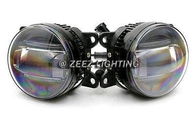 LED Projector Fog Driving Lamp w/ DRL Daytime Running Light For Cars Trucks SUVs 2
