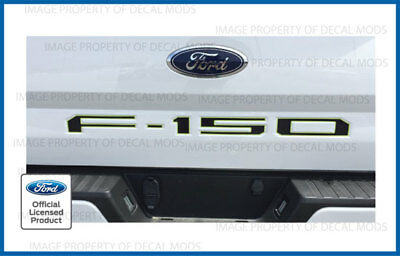 COLOR 2018 Ford F150 Tailgate Inserts Decals Letters Indent Stickers CHROME