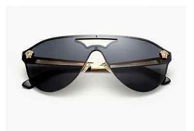 7f36eaf864 HOT NEW Authentic VERSACE Aviator Medusa Gold Black Sunglasses VE 2161 1002   87