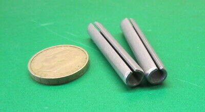 "Zinc Plate Steel Slotted Roll Spring Pin, 5/16"" Dia x 1 3/4"" Length, 50 pcs 11"