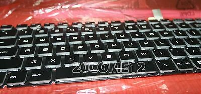 For MSI GT72 6QD Dominator  GT72 6QE Dominator keyboard US Color Backlit Crystal