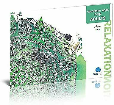 Adult Colouring Books Set of 3 with 36 Unique Relaxing Illustrations&Mandalas 3