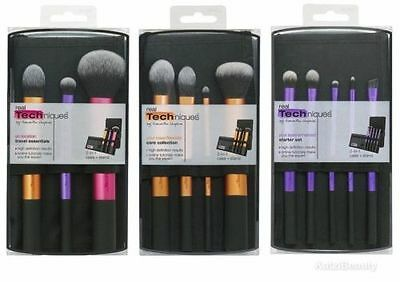 3 set RT Real Techniques Makeup Brushes Core Collection Travel Essential Brushes 2