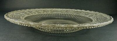 """GIVE US THIS DAY OUR DAILY BREAD AMERICAN PRESSED GLASS PLATE 10"""""""