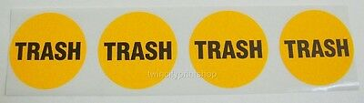 """Printed Round Stickers, 500 Custom 3"""" Circle Business Labels, 1 ink Color, Roll"""