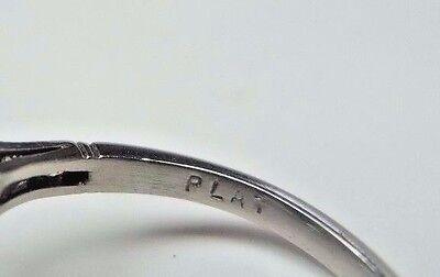 Antique Art Deco Vintage Diamond Platinum Engagement Ring Size 6.25 EGL USA Fine 9