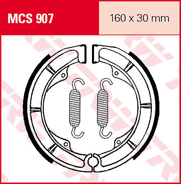 2 Mâchoires frein Arrière TRW Lucas MCS907 Suzuki LS 650 F Savage NP41B 86-01 2
