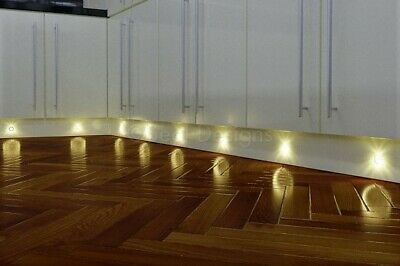 Seal Designs 10 x 30mm Easy Change LED Lights Deck//Decking//Kitchen Plinth White Square **Now with IP68 Waterproof Transformer**