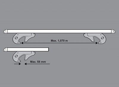 M-Way 120cm 90kg Lockable Aluminium Roof Rack Rail Bars to fit Seat Ateca 2016+