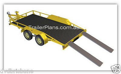 Trailer Plans - 2500KG FLATBED CAR TRAILER PLANS - TANDEM AXLE - PLANS ON CD-ROM 3