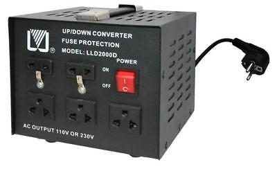 2000W Spannungswandler 230-110 Volt Converter USA Wandler Step-up Step-down NEU 2