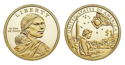 2019-P  NATIVE AMERICAN DOLLAR COIN (American Indians in the Space Program)