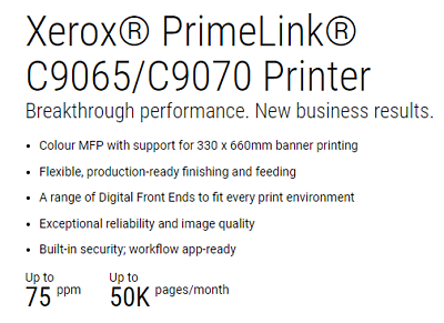 Xerox PrimeLink C9070 - £199 per month rental - Free Delivery & Installation 2