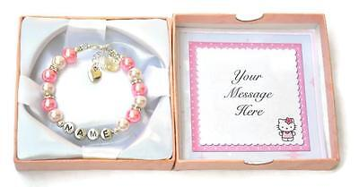 b6d6a1de8 ... Hello Kitty Personalized Girl's Charm Bracelet Hand Made Gift Any Name  US Seller 2
