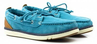 Junior Childrens Boys Summer Timberland Hookset distressed Canvas Trainers shoes