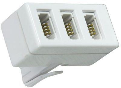 BT Telephone Socket Triple Way Phone Adapter 3 Way Land Line Converter Splitter
