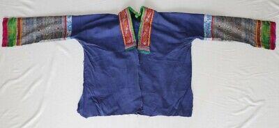 Vintage tribal chinese minority people' old hand batik embroidery costume jacket 2