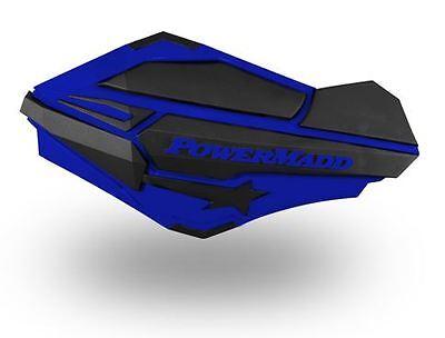 Powermadd Star Series Handguards Guards Blue Silver Snowmobile Ski Doo Summit