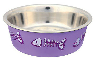 Stainless Steel patterned cat feeding / water bowl  by Trixie 2