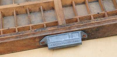 Setzkasten 65x44 cm 1920/30 Jahre Linienkasten Vintage shabby chic letterpress 3