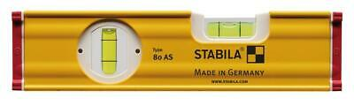 "Stabila Handy Mini//Small 8/"" 20cm Tool Box Section 2-Vial Spirt Level 80 AS"