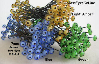 4 PAIR GLASS Eyes on Wire 3mm to 12mm Fish Lure Carving Decoy Craft Eyes  LE-1